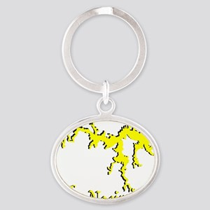 LAKE NACIMIENTO [4 yellow] Oval Keychain